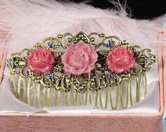 Comb magnolia and rose