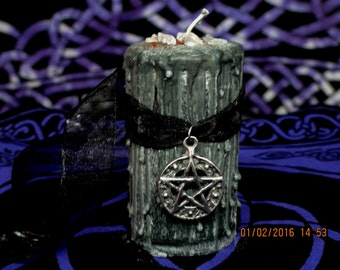 Witch's Shield Candle ~ Witch's Protection Candle ~ Wicca Spell Candle ~ Witch Drippy Candle ~ Spell Candle ~ Witchcraft Candle