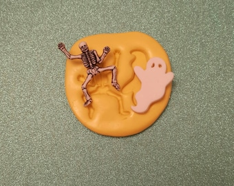 HALLOWEEN ghost/Skeleton Silicone Mold, gumpaste fondant cake decorating, chocolate, candy, polymer clay