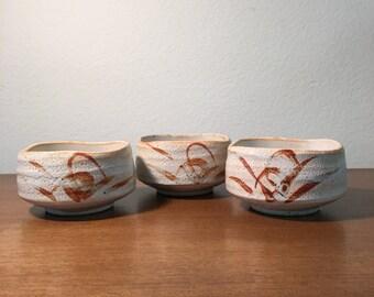Set of small White pots