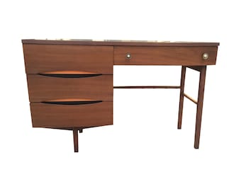 Mid Century Desk With Minimal Color Detailing