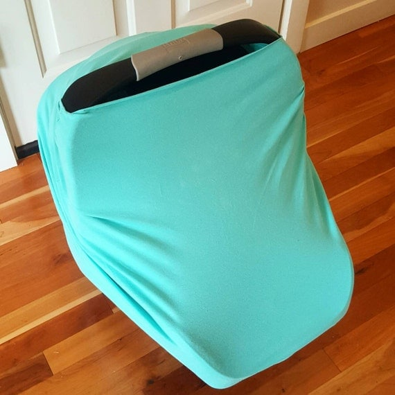 Car Seat Cover Nursing Cover Solid Mint Stretchy By