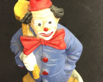 Vintage  Hand Painted Made in Italy Clown