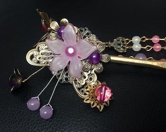 Lilac Hair Pin