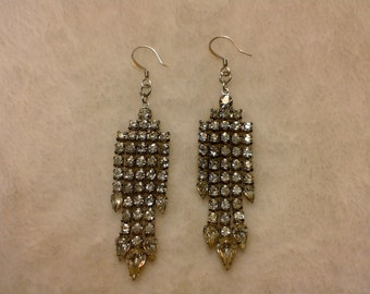 Set crystal chandelier earrings