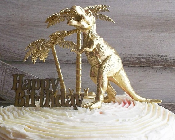 gold dinosaur wedding cake topper birthday cake topper t rex dinosaur gold by 14751