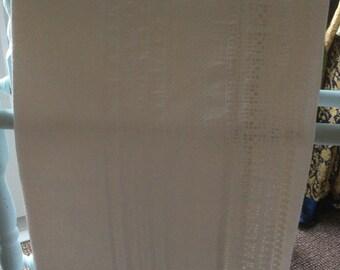 Irish huckaback towel, hand crochet on all edges