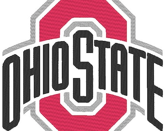 Ohio State Buckeyes Embroidery Design.  4 Large Sizes