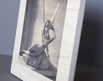 Photo print on wood / Paris, Louvre Sculpture
