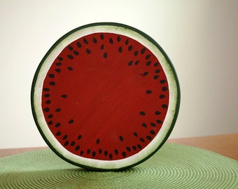 Decorative Table Top Wooden Watermelon