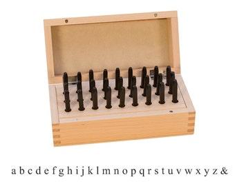 Lowercase Block Letter Set, 27 Pieces, 1/8 Inch | PUN-205.90