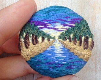 Brooch about rivers and souls