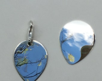 Sterling Guitar Pick ~ Sterling Guitar Pick Pendant