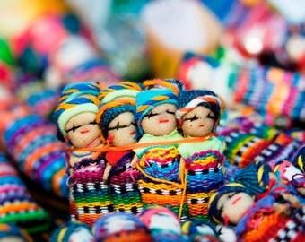 8 Guatemalan Worry Dolls / Mayan Trouble Dolls