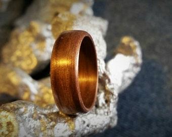 Red Oak Bent Wood Ring.   SIZES: 6 8 8.5 9.5 10.5 11.5 12.5 13.5