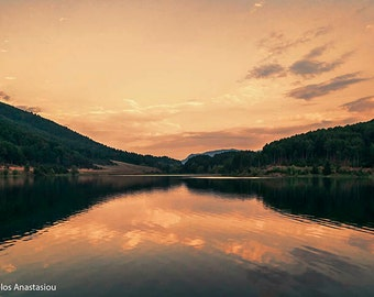 Landscape Photography, The Golden Lake, Greece Nature