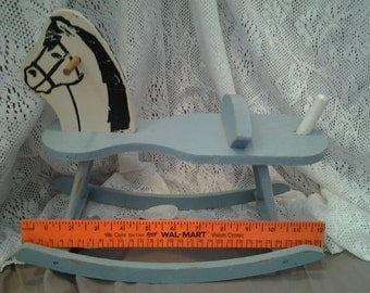 Vintage Rocking Horse Miniture Wood