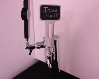 Custom 3D Printed Chalk Board Tap Handle kegerator beer mug craft home brew brewing chalkboard tapper home bar décor man cave Budweiser gift