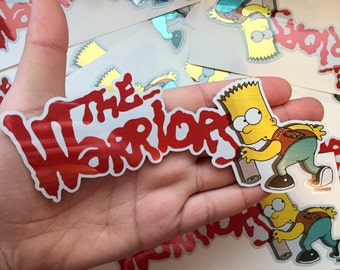 Bart x The Warriors Brushed Alloy Die Cut Sticker