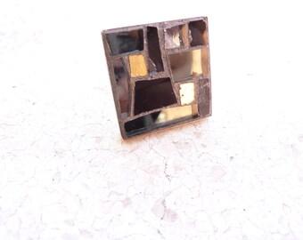 black gold ring mosaic