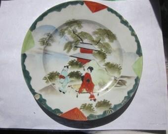 Vintage Japanese Geisha Plates