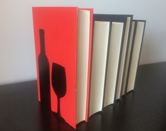 Wine Bottle & Glass Bookends