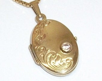 Pendant gold 333 gold pendant medallion with Crystal stone vintage old GA106