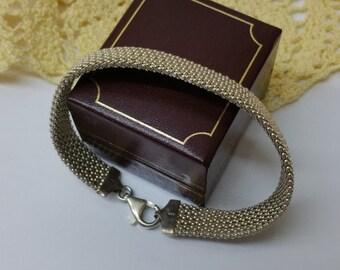 Braided bracelet bracelet 925 Silver length 18.5 cm SA273