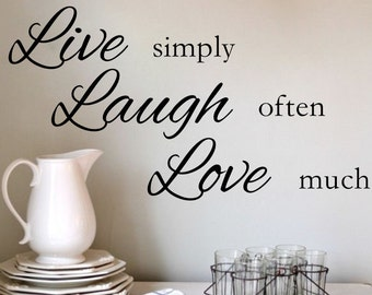 Decal Live Simply Etsy - Wall decals live laugh love