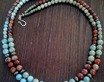 Aqua Terra Impression Jasper Necklace