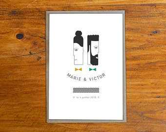 Wedding announcement Mr & Mrs