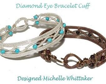 Diamond Eye Bracelet Cuff Tutorial PDF Advanced