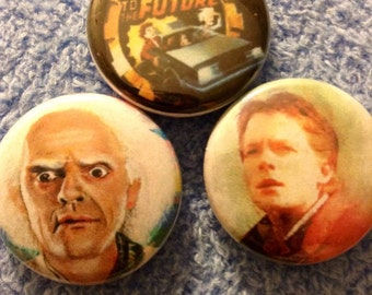Back To The Future Pin Button Set 1""