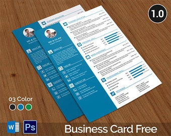 CV Template, CV Template With Business Card, CV, Resume Template, Resume,  Resume Business Cards