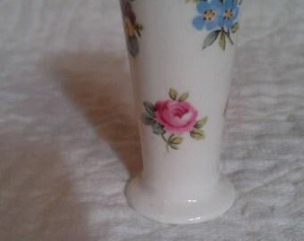 Staffs Crown Staffordshire England Fine Bone China Mini Trumpet Vase -Flo Bouquet