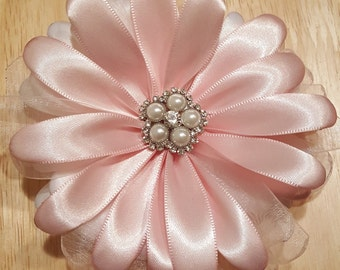 Large Satin Flower Pin