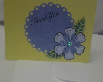 Yellow Thank You Greeting Card
