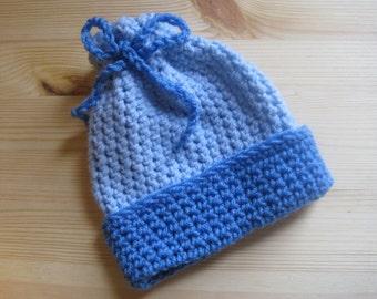 Crochet Baby Hat * Size 3-6 Months * Blue Hat * Baby Boy Hat * Multiple Shades * Boy Hat * Crochet Hat