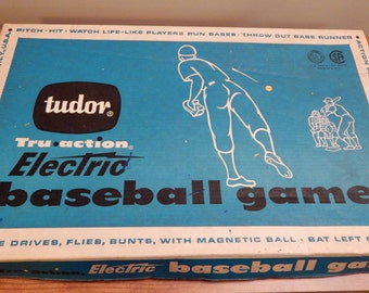 Tudor Tru-Action Electric Baseball Game, Electronic Baseball Game, Vibrating Baseball Game