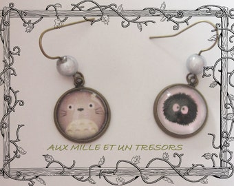 earrings ears totoro