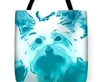 Designer tote bag,Yorkie Tote Bag, Decorator bag,pretty colors,beach bag,Shoulder bag,13x13 16x16 18x18 Beach tote Fashion,Style,Fun, Yorkie