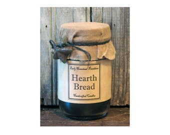 Primitive Candle, Country Candle, Rustic Candle, Hearth Bread Scented Jar Candle