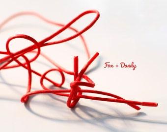 Men's Custom Red Dress Statement Shoelaces
