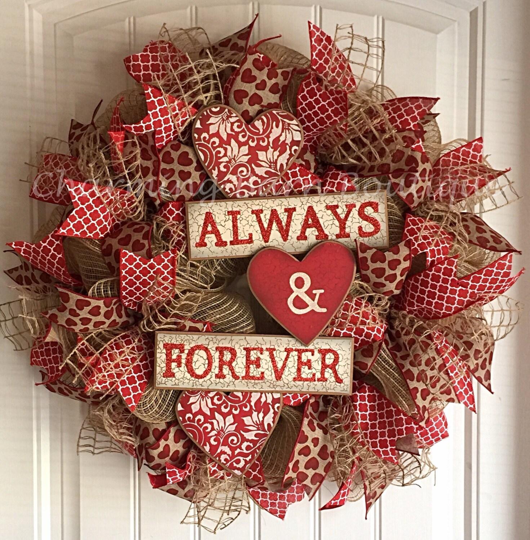 valetine 39 s day valentine 39 s day wreath valentines. Black Bedroom Furniture Sets. Home Design Ideas
