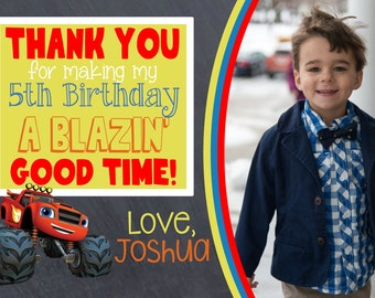 Blaze Thank You Card with Picture