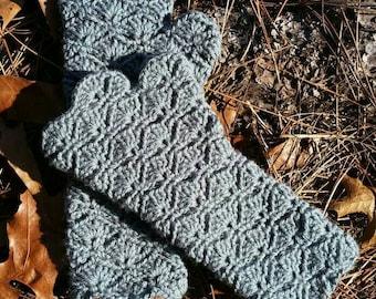 Fingerless Shell Gloves: Handmade Crochet Item