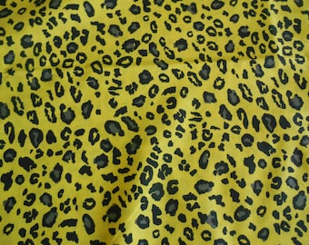 Wild side cheetah yellow cotton fabric by the yard