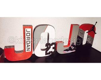 Michael Jordan  Letters. Jordan Party Decor. Jordan theme. Paper Mache Letters. Smash Cake Session letter set.