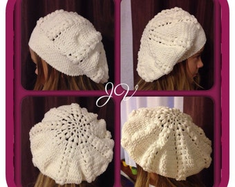 Crochet hat for girls, beret hat, handmade