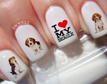 37 Beagle Nail Decals